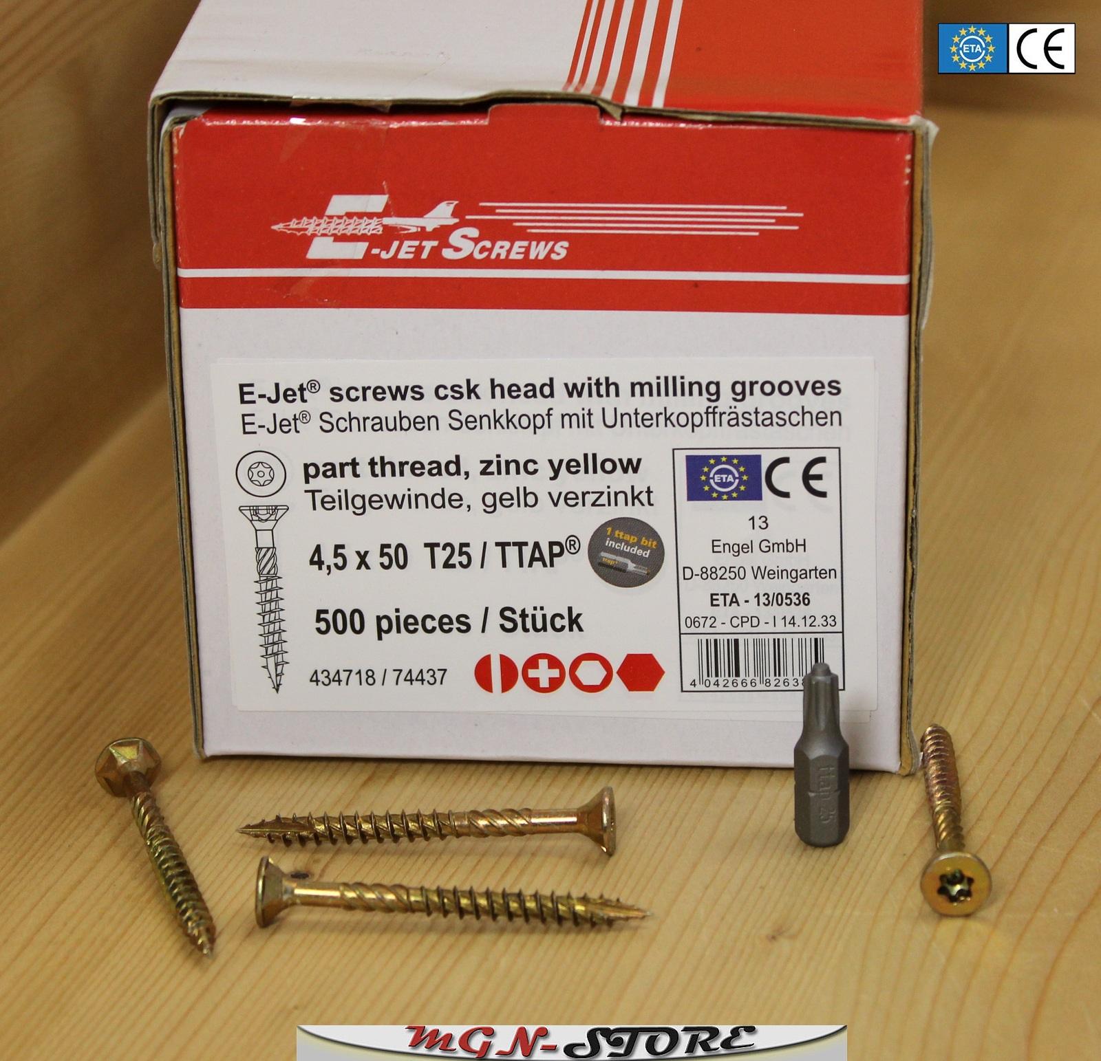 25 Spanplattenschrauben Edelstahl Senkkopf  4,5 x 30 mm Teilgewinde Torx