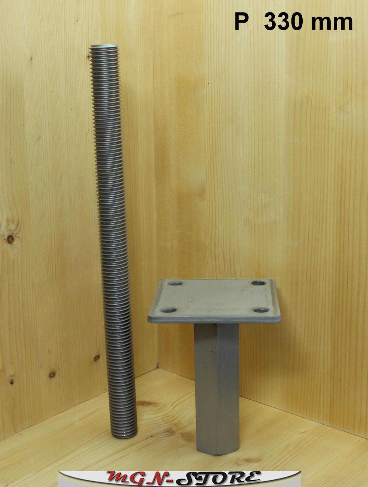 mgn store pitzl pfostentr ger typ p zinip nutzungsklasse 3 zum einbetonieren 330 mm. Black Bedroom Furniture Sets. Home Design Ideas